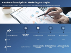 Performance Assessment Sales Initiative Report Cost Benefit Analysis For Marketing Strategies Ppt Layouts Brochure PDF