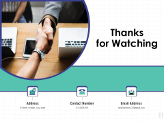 Performance Assessment Thanks For Watching Ppt Model Example Introduction PDF