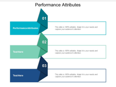 Performance Attributes Ppt PowerPoint Presentation Slides Images Cpb