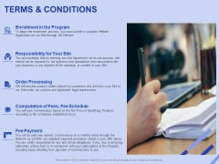 Performance Based Marketing Proposal Terms And Conditions Ppt Model Objects PDF