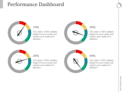 Performance Dashboard Ppt PowerPoint Presentation Background Image