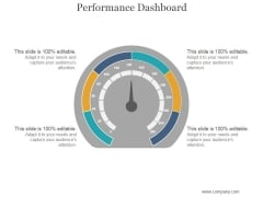 Performance Dashboard Ppt PowerPoint Presentation Show