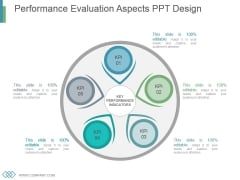 Performance Evaluation Aspects Ppt Design