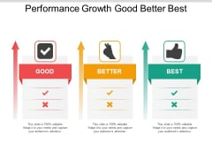 Performance Growth Good Better Best Ppt Powerpoint Presentation File Skills