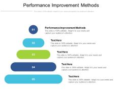 Performance Improvement Methods Ppt PowerPoint Presentation Shapes Cpb