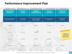 Performance Improvement Plan Ppt PowerPoint Presentation Summary Layout Ideas