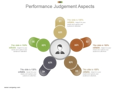 Performance Judgement Aspects Powerpoint Slide Information