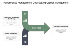 Performance Management Goal Setting Capital Management Business Communication Ppt PowerPoint Presentation Icon
