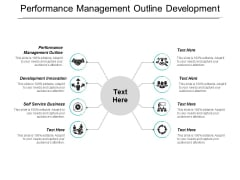 Performance Management Outline Development Innovation Self Service Business Ppt PowerPoint Presentation Summary Gallery