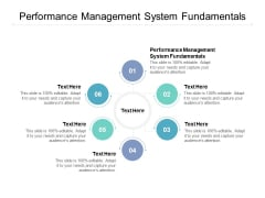 Performance Management System Fundamentals Ppt PowerPoint Presentation Infographic Template Graphics Download Cpb