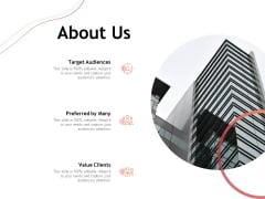 Performance Measuement Of Infrastructure Project About Us Ppt Inspiration Example Introduction PDF