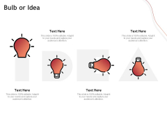 Performance Measuement Of Infrastructure Project Bulb Or Idea Ppt Infographics Brochure PDF