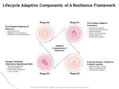 Performance Measuement Of Infrastructure Project Lifecycle Adaptive Components Of A Resilience Framework Diagrams PDF