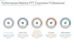 Performance Metrics Ppt Examples Professional
