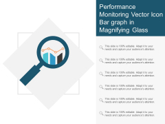 Performance Monitoring Vector Icon Bar Graph In Magnifying Glass Ppt PowerPoint Presentation Summary Gallery