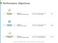 Performance Objectives Capital Ppt PowerPoint Presentation Portfolio Deck