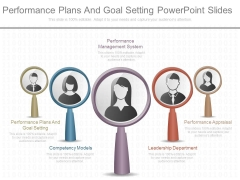 Performance Plans And Goal Setting Powerpoint Slides