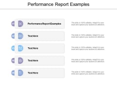 Performance Report Examples Ppt Powerpoint Presentation Model Elements Cpb