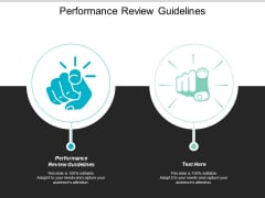 Performance Review Guidelines Ppt PowerPoint Presentation Slides Mockup Cpb