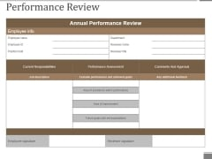 Performance Review Template 1 Ppt PowerPoint Presentation Styles Graphics Design