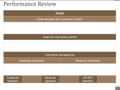 Performance Review Template 3 Ppt PowerPoint Presentation Summary Ideas
