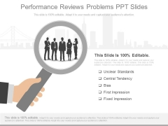 Performance Reviews Problems Ppt Slides
