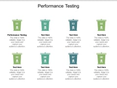 Performance Testing Ppt PowerPoint Presentation Outline Topics Cpb