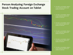 Person Analyzing Foreign Exchange Stock Trading Account On Tablet Ppt PowerPoint Presentation File Gallery PDF