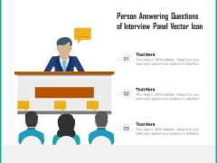 Person Answering Questions Of Interview Panel Vector Icon Ppt PowerPoint Presentation Portfolio File Formats PDF