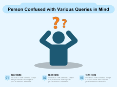 Person Confused With Various Queries In Mind Ppt PowerPoint Presentation Gallery Example Introduction PDF