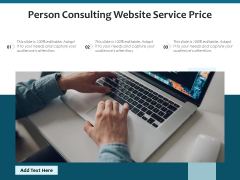 Person Consulting Website Service Price Ppt PowerPoint Presentation File Examples PDF