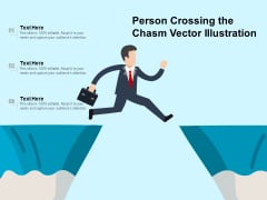 Person Crossing The Chasm Vector Illustration Ppt PowerPoint Presentation File Influencers PDF