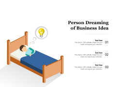 Person Dreaming Of Business Idea Ppt PowerPoint Presentation Summary Inspiration PDF