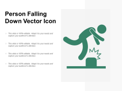 Person Falling Down Vector Icon Ppt PowerPoint Presentation Icon Slide Portrait