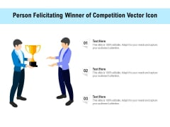 Person Felicitating Winner Of Competition Vector Icon Ppt PowerPoint Presentation File Professional PDF