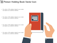 Person Holding Book Vector Icon Ppt PowerPoint Presentation Gallery Example PDF