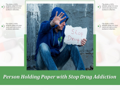 Person Holding Paper With Stop Drug Addiction Ppt PowerPoint Presentation Gallery Model PDF