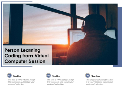 Person Learning Coding From Virtual Computer Session Ppt PowerPoint Presentation Portfolio Graphic Images PDF