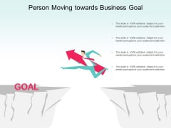 Person Moving Towards Business Goal Ppt PowerPoint Presentation Infographic Template Design Inspiration