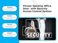 Person Opening Office Door With Security Access Control System Ppt PowerPoint Presentation Styles Rules PDF