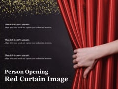 Person Opening Red Curtain Image Ppt PowerPoint Presentation Professional Layout