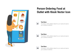 Person Ordering Food At Outlet With Kiosk Vector Icon Ppt PowerPoint Presentation Gallery Ideas PDF