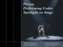 Person Performing Under Spotlight On Stage Ppt PowerPoint Presentation File Introduction PDF