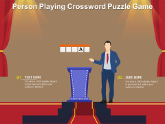 Person Playing Crossword Puzzle Game Ppt PowerPoint Presentation Outline Professional PDF