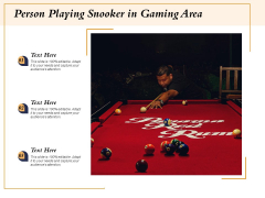 Person Playing Snooker In Gaming Area Ppt PowerPoint Presentation File Picture PDF