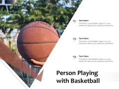 Person Playing With Basketball Ppt PowerPoint Presentation Professional Structure PDF