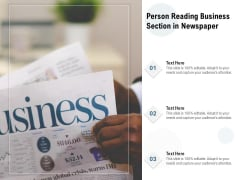 Person Reading Business Section In Newspaper Ppt PowerPoint Presentation Gallery Files PDF