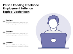 Person Reading Freelance Employment Letter On Laptop Vector Icon Ppt PowerPoint Presentation Gallery Graphics Example PDF