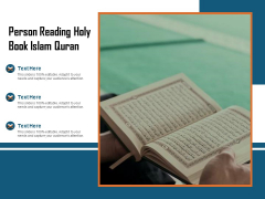 Person Reading Holy Book Islam Quran Ppt PowerPoint Presentation Slides Good PDF