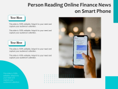 Person Reading Online Finance News On Smart Phone Ppt PowerPoint Presentation File Mockup PDF